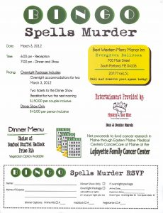 Bingo Spells Murder - Mystery for Hire