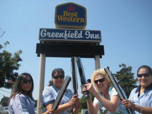Our Housekeeping Dream Team (l to r): Laura Ramirez, Oralia Rubio, Carolyn Nickerson, Marcela Garcia