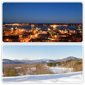 Portland Maine from Holiday Inn By the Bay (top) and Mount Washington (below)